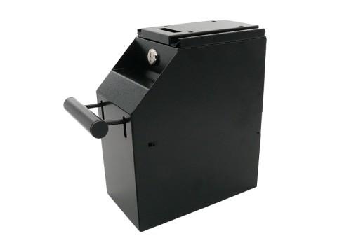 AC-S102 - Metall-Sicherheitsbox (Abschöpfbox) für Geldscheine, Untertischmontage, zweifach abschließbar, schwarz