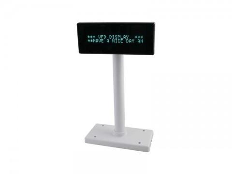 VFD222 - VFD Kundendisplay, USB + RS232, klar weiss