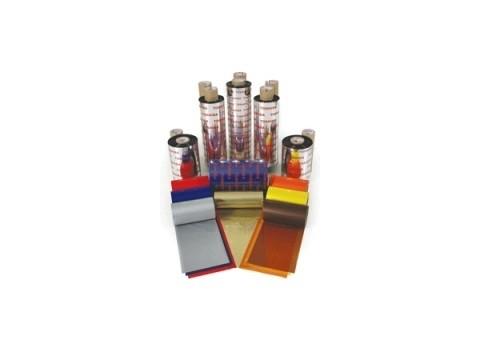 Farbband - Wachs/Harz Premium wischfeste Qualität, 300m x 112mm, orange, 1 Zoll-Kern, Außenwicklung