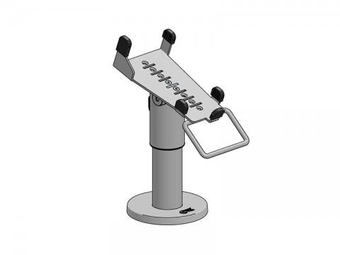 SpacePole Kit - Standfuß, 120mm Höhe, EC Terminal Halterung Verifone VX680 und CCV Mobile, schwarz