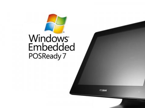 Apexa-G Touchsystem (J1900), schwarz + Microsoft PosReady 7 64bit
