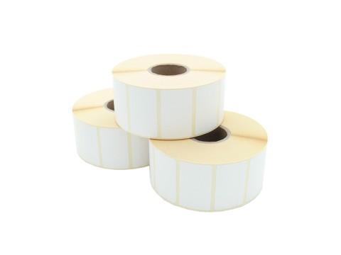 Etikettenrolle - Thermotransfer, 50 x 25mm, D94mm, Kern 40, 1500 Etiketten/Rolle, permanent