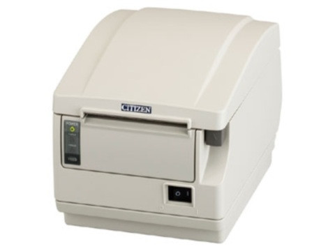 CT-S651 - Thermodrucker mit Abschneider, Frontausgabe, thermodirekt, ohne Schnittstelle, weiss