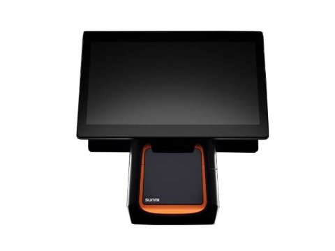 """T2s - Touchsystem 15.6"""" FHD + 15.6"""" Kundenanzeige FHD, kapazitiver Touchscreen, Android 9.0, 80mm Thermobondrucker"""