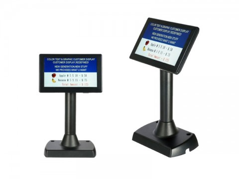 "KD-TD777 - farbiges Kundendisplay mit Standfuss, 7"", Ethernet, Display 480x234, dunkelgrau"