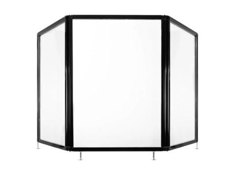 Guardiant - Schutztrennwand, 3 Seiten (2000 x 930mm) klares Acryl, verstellbare Füsse, ohne Fenster