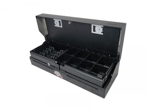 46 ES7-KE-D - Elektrische Geldlade (Sprungdeckel), 4 Banknotenfächer (schräg), 8 verwiegbare Einzelmünzbehälter