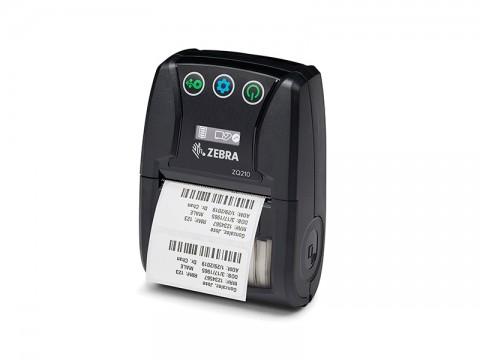 ZQ210 - Mobiler Beleg- und Etikettendrucker für kleberlose Etiketten, thermodirekt, 203dpi, USB