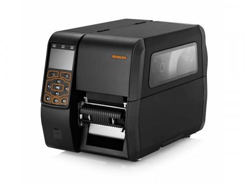 XT5-43 - Etikettendrucker, thermotransfer, 300dpi, USB + RS232 + Ethernet + 2 USB Host Ports, Peeler, Aufwickler, schwarz