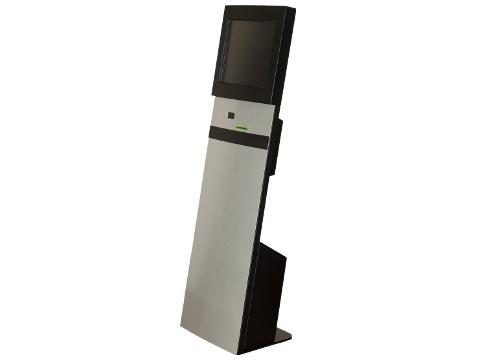 """IT-103-12 - Straight Info Tower * German Made - Kiosk-System mit 19"""" (48,26cm) SAW, mit Bondrucker/Barcodescanner Vorbereitung, **Optional PC**"""