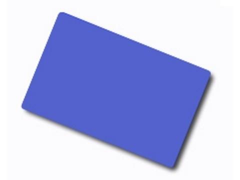 Plastikkarte - 30mil, 0.76mm (blanko) - blau