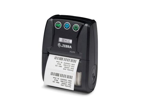 ZQ210 - Mobiler Beleg- und Etikettendrucker für kleberlose Etiketten, thermodirekt, 58mm, 203dpi, Bluetooth, USB