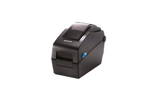 SLP-DX220 - Etikettendrucker, thermodirekt, 203dpi, Druckbreite 54mm, USB + RS232, Peeler, dunkelgrau