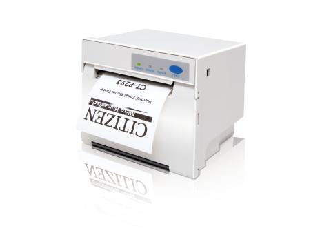 CT-P293 - Einbaudrucker mit Frontausgabe, thermodirekt, USB + Parallel + RS232, weiss