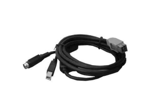 Powered USB-Kabel - 24VDC, Länge 1.6m, schwarz