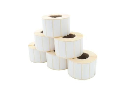Etikettenrolle - Thermodirekt 50 x 20mm, D105mm, Kern 40, 1500 Etiketten/Rolle, permanent
