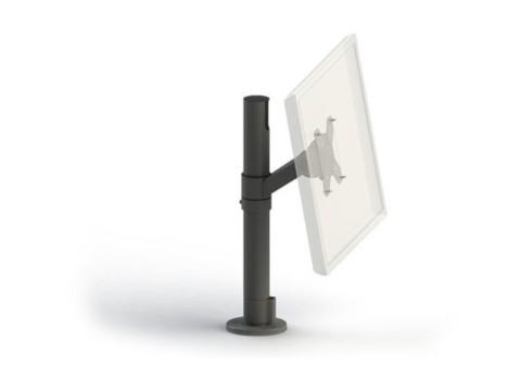 SpacePole Mount - Monitorhalterung, VESA 75/100, kipp- und schwenkbar, schwarz