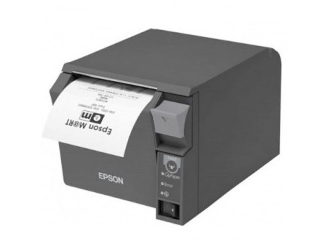 TM-T70II - Bon-Thermodrucker mit Frontausgabe, 80mm, Abschneider, powered USB, schwarz