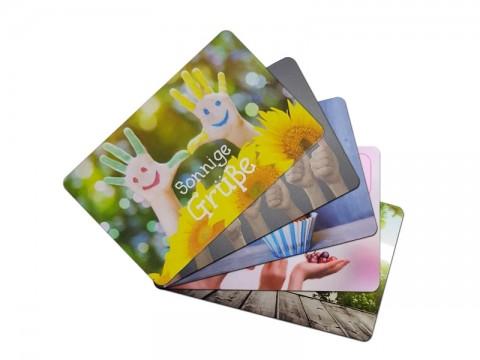 Plastikkarte bedruckt, Bogenoffset 4/0 CMYK farbig bedruckt - 30mil, 0.76mm, ++Abgabe nur als VPE 250er Pack++