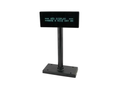 VFD222 - VFD Kundendisplay, USB + RS232, dunkelgrau