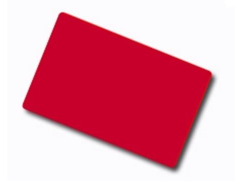 Plastikkarte - 30mil, 0.76mm (blanko) - rot
