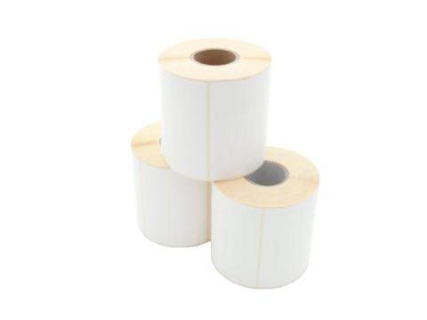Etikettenrolle - Thermodirekt, 100 x 74mm, D113mm, Kern 40, 700 Etiketten/Rolle, permanent, perforiert