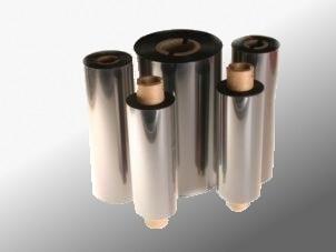 Farbband - Wachs, grau, 300m x 90mm, 1 Zoll-Kern, Aussenwicklung