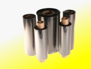 Farbband - Wachs, gelb, 300m x 90mm, 1 Zoll-Kern, Aussenwicklung