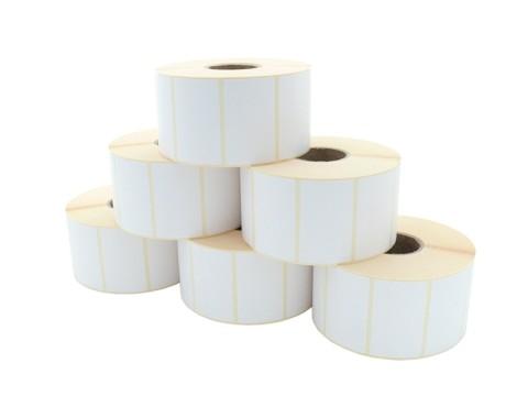 Etikettenrolle - Thermotransfer, 60 x 36mm, D127mm, Kern 40, 2000 Etiketten/Rolle, permanent
