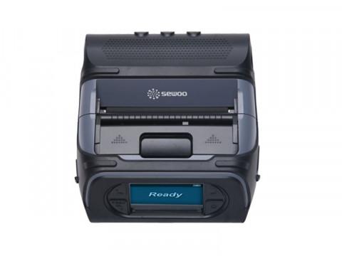 LK-P43II - Mobiler Thermo-Bon-/Etikettendrucker, 112mm Papierbreite, USB + RS232 + Bluetooth (Android/IOS), Etikettenspender