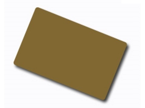 Plastikkarte - 30mil, 0.76mm (blanko) - gold metallic