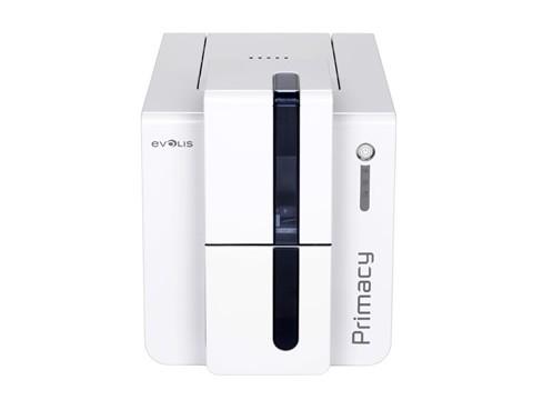 Primacy - Doppelseitiger Farb-Kartendrucker mit USB und Ethernetanschluss, blau