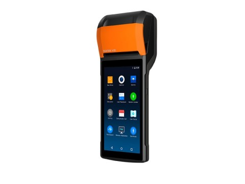 """V2 - Mobiles All-In-One Touchterminal, 5.45"""" Display, 58mm Thermobondrucker, Android 7.1, 4G"""
