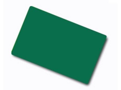 Plastikkarte - 30mil, 0.76mm (blanko) - grün