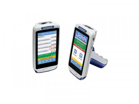Joya Touch Plus - Mobiler Computer mit 2D-Imager und Windows Embedded (Blau/Gelb)