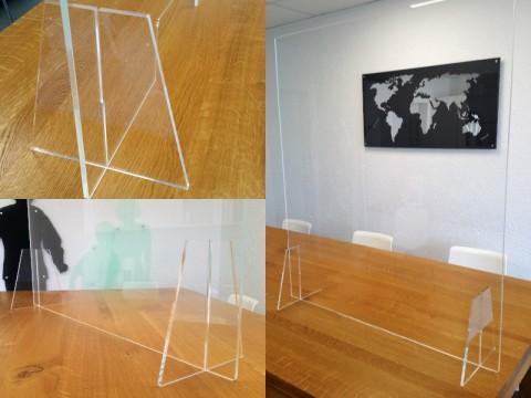 Hygieneschutz aus Acryglas - glasklar, 800 x 800 x ! 6 ! mm, OHNE Durchreiche