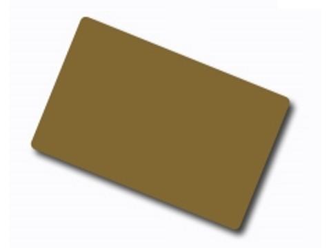 Plastikkarte - 30mil, 0.76mm (blanko) - gold metallic