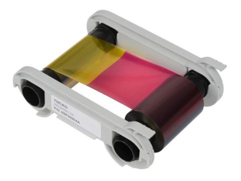 5 Panel Farbband für Zenius, Edikio und Primacy - YMCKO - 200 Karten/Rolle