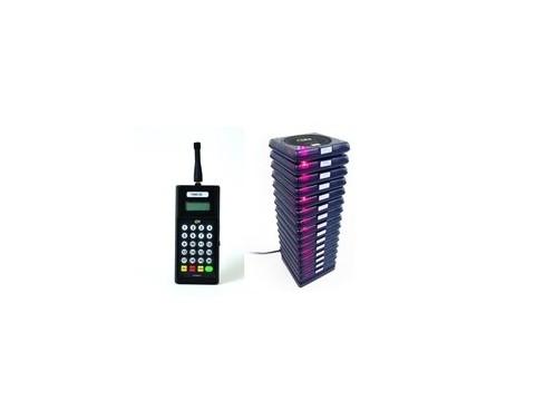 Funkrufsystem Gastruf mit Basis und 10 Sender für Gäste