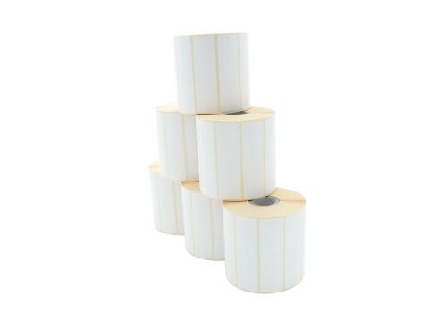 Etikettenrolle - Thermodirekt, 80 x 23mm, D100mm, Kern 25,1500 Etiketten/Rolle, permanent