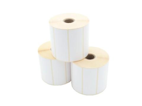 Etikettenrolle - Thermotransfer, 90 x 36mm, D105mm, Kern 25, 1500 Etiketten/Rolle, permanent