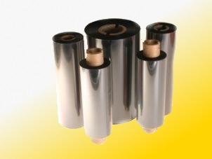 Farbband - Wachs, gold, 300m x 110mm, 1 Zoll-Kern, Aussenwicklung