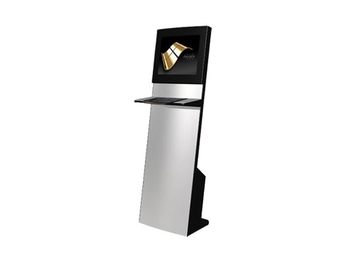"IT-103-13 - Straight Info Tower * German Made - Kiosk-System mit 19"" (48,26cm) SAW + inkl. Metall-Tastatur, Bondrucker/Scanner Vorber., *Optional PC*"