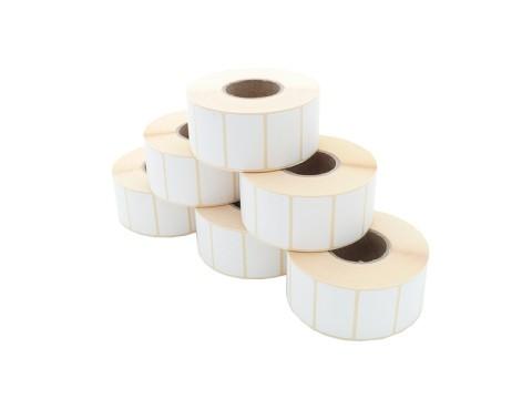 Etikettenrolle - Thermodirekt, 40 x 25mm, D100mm, Kern 40, 1650 Etiketten/Rolle, permanent