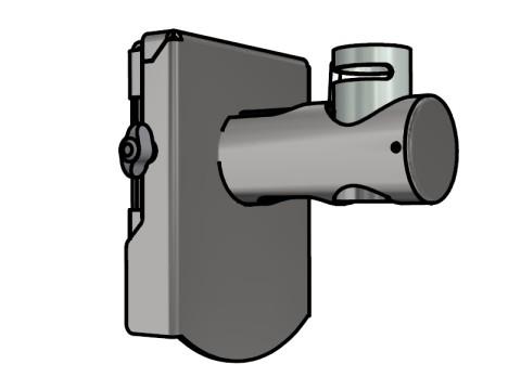 Wandhalterung - für beliebige 40er Applikationen, mit Trägerplatte, Länge ca. 160mm