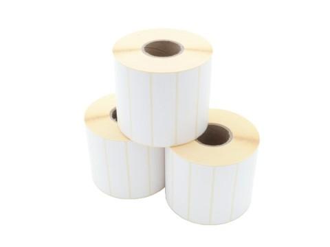 Etikettenrolle - Thermotransfer, 89 x 23mm, D107mm, Kern 40, 2300 Etiketten/Rolle, permanent