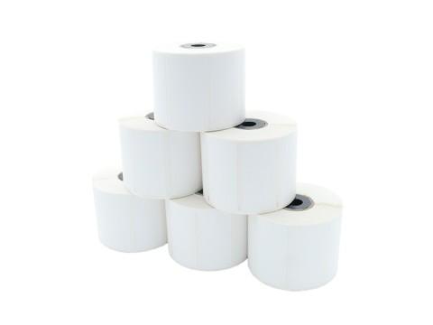 Etikettenrolle - Thermodirekt 56 x 25mm, D79mm, Kern 12/25, 1000 Etiketten/Rolle, permanent, BPA-frei für TM-L60