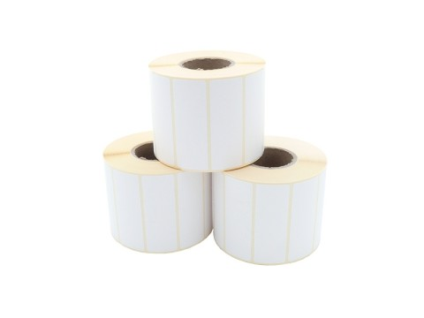 Etikettenrolle - Thermotransfer, 70 x 25mm, D93mm, Kern 40,1500 Etiketten/Rolle, permanent