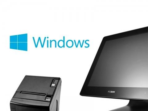 APEXA Prime Touchsystem (Pentium 4415U), schwarz + Microsoft Windows 10 IoT Enterprise 2019 LTSC Value + AP-8220 Thermo-Bondrucker