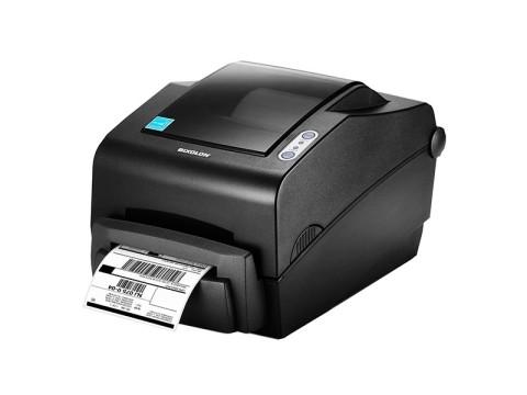 SLP-TX403 - Etikettendrucker, thermotransfer, 300dpi, USB + RS232 + Parallel, Abschneider, dunkelgrau